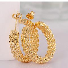 Okrugle naušnice Moda Circle Shape Zlato Jewelry Za