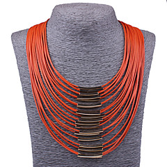 Women's Statement Necklaces Bib necklaces Jewelry Alloy Fashion Statement Jewelry Vintage Orange Beige Red Blue Watermelon Jewelry For