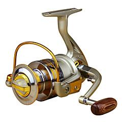 Molinetes de Pesca Molinetes Rotativos 5.5:1 10 Rolamentos Left-HandedPesca de Mar / Pesca Voadora / Isco de Arremesso / Pesca no Gelo /