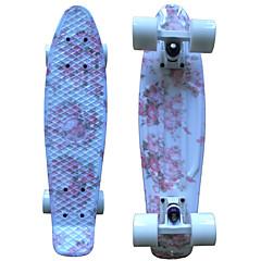 22 inç kruvazör Kaykay Standart Skateboards PP (Polipropilen) Abec-9 Çiçekli