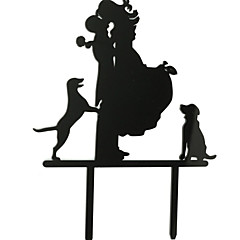 Kakepynt Ikke-personalisert Klassisk Par Akryl Bryllup Jubileum Utdrikkingslag Svart Strand Tema Hage Tema Klassisk Tema 1 OPP