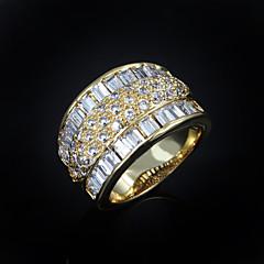 Naisten Nauhasormukset pukukorut Zirkoni Gold Plated Korut Käyttötarkoitus Häät Party Päivittäin Kausaliteetti