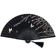 """Mătase Ventilatoare și umbrele de soare-# Piece / Set Ventilatoare de Mână Temă Flurure Negru Panglici 15""""x8 1/3""""x 3/4""""(38cmx21cmx1cm)"""