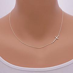 Žene Ogrlice s privjeskom Legura Cross Shape Postrance Simple Style Pink Zlatan Jewelry Dnevno Kauzalni 1pc