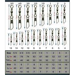 50 Stück Angel-Zubehör Silber g/Unze mm Zoll,Edelstahl/EisenSeefischerei Fliegenfischen Köderwerfen Eisfischen Spinn Spring Fischen