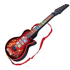 기타 모양 음악 장난감 레드 / 블랙 복근