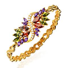 Damen Ketten- & Glieder-Armbänder Kristall Krystall Zirkon vergoldet Golden Schmuck Für Hochzeit Party Alltag Normal Weihnachts Geschenke