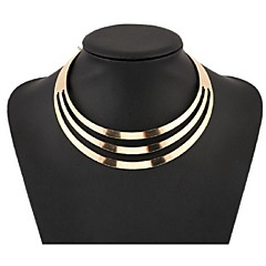 Women's Choker Necklaces Statement Necklaces Jewelry Alloy Fashion European Multi Layer Costume Jewelry Jewelry For Party Special