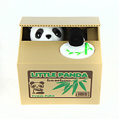 Münz Bank Stealing Coin Bank Geld sparen Fall Piggy Bank Niedlich Quadratisch Panda