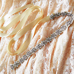 Satin Wedding / Party/ Evening / Dailywear Sash - Beading / Appliques / Rhinestone Women's Sashes