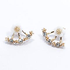 Femme Boucles d'oreille goujon Mode Simple Style bijoux de fantaisie Argent sterling Forme de Fleur Marguerite Bijoux Pour Mariage Soirée