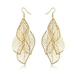 Kićankama Moda Bohemia Style Legura Leaf Shape Zlatan Jewelry Za Dnevno Kauzalni 1 par
