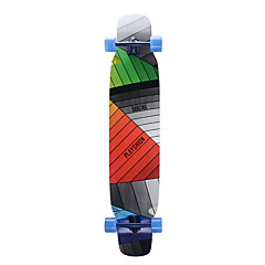Longboards Skateboard Standard-Skateboards Ahorn Regenbogen