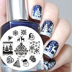 rođen prilično Božić nail art žigosanje ploča slika alat predložak za nokte