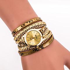 Mulheres Relógio de Pulso Bracele Relógio Quartzo Colorido PU Banda Vintage Leopardo Boêmio Legal CasualPreta Branco Azul Prata Vermelho