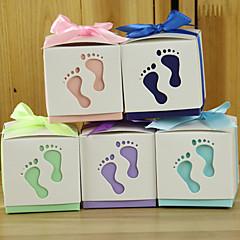 12 Peça/Conjunto Titular Favor-Cúbico Papel Pérola Caixas de Ofertas Caixas de Presente não-personalizado
