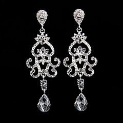 Boucle Boucles d'oreille goutte Bijoux Femme Mariage / Soirée Alliage / Strass 1 paire Argent