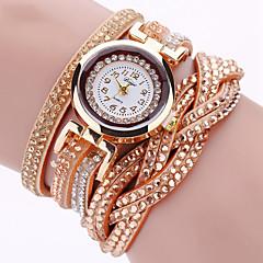 Mulheres Relógio de Moda Relógio de Pulso Bracele Relógio Quartzo Colorido imitação de diamante Punk PU BandaVintage Brilhante Torre