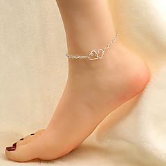 נשים תכשיט לקרסול/צמידים סגסוגת אהבה תכשיטים סגנון מינימליסטי אופנתי ארופאי Heart Shape תכשיטים עבור Party יומי קזו'אל