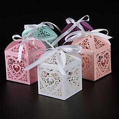 25 Adet/Set Favor Tutucu-Kuboid İnci Kağıdı Hediye Kutuları Kişiselleştirilmemiş