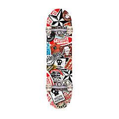 Standard-Skateboards Berufs ABEC-7-Rot Braun Nationalflagge