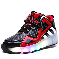 Kinder Jungen Skate Schuhe LED Licht Atmungsaktiv Einstellbar Blau/Weiß/Schwarz/Rote