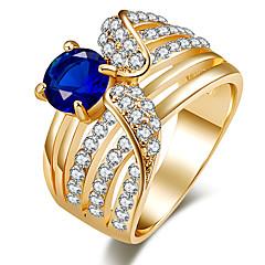 Damen Statementringe Ring Kristall Basis Einzigartiges Design Strass Luxus-Schmuck Schmuck mit Aussage Klassisch Modeschmuck Modisch
