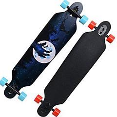 32 Zoll Komplett Skateboards Longboards Skateboard Standard-Skateboards Leichtes Gewicht Ahorn 608ZZ-Schwarz Rot Blau Muster