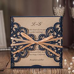 Embrulhado e de Bolso Convites de casamento 20-Cartões de convite Estilo Clássico Papel com Relevo