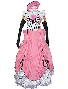 Inspiré par Black Butler Ciel Phantomhive Manga Costumes de Cosplay Costumes Cosplay Robes Mosaïque Sans ManchesRobe Gants Nœud papillon