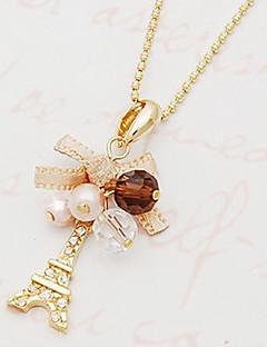 Γυναικεία Κρεμαστά Κολιέ Bowknot Shape Πύργος Προσομειωμένο διαμάντι Κράμα Μοντέρνα κοσμήματα πολυτελείας Εξατομικευόμενο κοστούμι