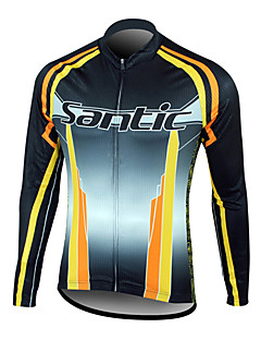 tops / Jaqueta / Jersey (Preto / Laranja) - de Esportes Relaxantes / Ciclismo - Homens -Impermeável / Vestível / A Prova de Vento /