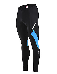 Mysenlan מכנסי רכיבה לגברים אופניים מכנסיים שמור על חום הגוף עמיד בטנת פליז לביש פוליאסטר גיזות קלאסי סתיו חורף רכיבה על אופניים/אופנייים