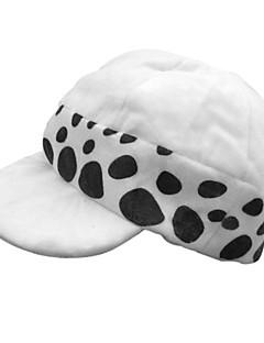 Hattu/lakki Innoittamana One Piece Trafalgar Law Anime Cosplay-Tarvikkeet Hat Valkoinen / Musta Polyesteri Uros