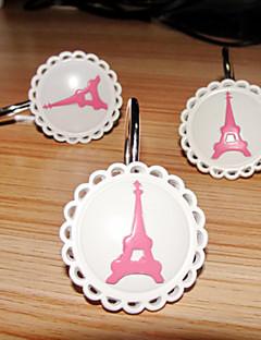 Duș Cortina Hooks, stil modern Turnul Eiffel model de metal (12 pack)