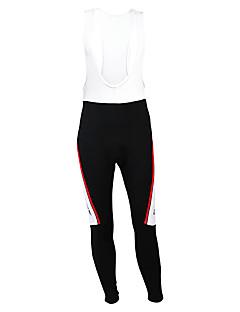 Kooplus מכנסי רכיבה לגברים אופניים טייץ רכיבה על אופניים מכנסיים תחתיות נושם שמור על חום הגוף בטנת פליז חדירות ללחות לביש פוליאסטר גיזות