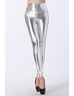 Dames Polyester Metallic,Legging One Size is passend voor S en M, zie de maattabel hieronder.