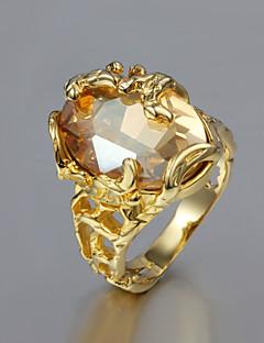 Kadın İfadeli Yüzükler kostüm takısı Altın Kaplama 18K altın Mücevher Uyumluluk Düğün Parti Günlük