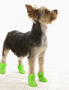 Kediler / Köpekler Ayakkabılar ve Botlar Su Geçirmez Kış / İlkbahar/Kış Solid Sarı / Mavi / Mor / Siyah / Pembe Silikon