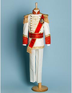Polyester Ring Bearer Suit - 5 Pieces Includes  Jacket / Shirt / Pants / Waist cummerbund / Suspenders