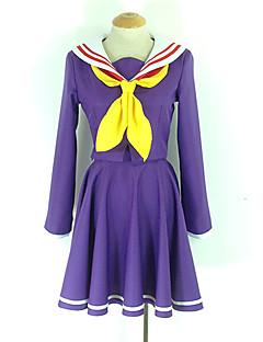 Inspiré par No Game No Life Shiro Manga Costumes de Cosplay Costumes Cosplay Uniforme d'Ecolier / Ecolière Couleur Pleine Manches Longues