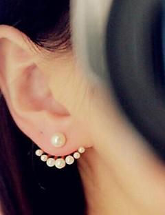 Damen Ohrstecker Gestlyte Ohrringe Vorne Hinten Modeschmuck Simple Style Modisch Künstliche Perle vergoldet Schmuck Schmuck Für Hochzeit