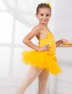 Детская одежда для танцев Балетное трико Детские Учебный Хлопок  Бант(ы) Без рукавов