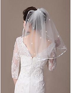 Vjenčani velovi One-tier Shoulder Veils Ribbon Edge Ojačani rub 21.65 u (55cm) Til
