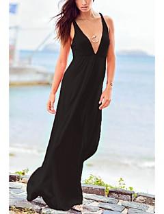 la mode féminine sexy V profond maillots de bain maillot de bain Bikini Beach solide usure vacances à long robe