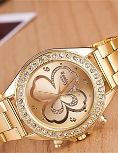 yoonheel לנשים שעוני אופנה שעונים יום יומיים קווארץ מתכת להקה זהב מוזהב