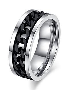 Homens Mulheres Maxi anel Amor bijuterias Aço Titânio Jóias Jóias Para Casamento Festa Diário Casual Esportes
