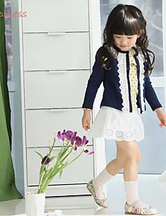 女の子の ゼブラプリント コットン / ポリエステル,セーター&カーデガン 冬 / 春 / 秋 ブルー / ピンク
