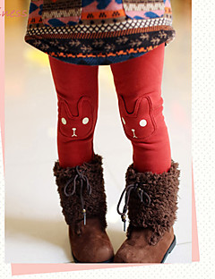 Mädchen Leggings Baumwolle / Polyester Winter / Frühling / Herbst Rot / Grau