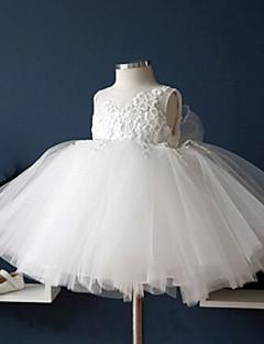 ball gown teetä pituus kukka tyttö mekko - tylli hihaton jalokivi niska pitsiä ydn